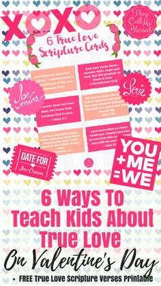 Teach Kids About True Love on Valentine's Day + FREE True Love Scripture Verses Printable