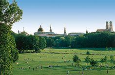 Englischer Garten München, Blick vom Monopteros