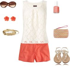 summer casual, created by #reallymichelle on #polyvore. #fashion #style Phase Eight J.Crew