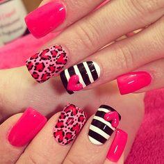 Valentine nails ❤️❤️