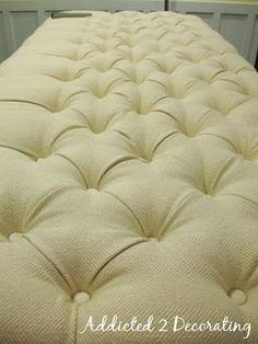How To Make A Diamond Tufted Upholstered Headboard ... a future project when the house is finally done!