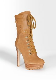 bebe | Yvette Lace Up Suede Boot - View All