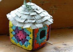 Granny Square Birdhouse