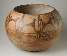 Central Iran  Prehistoric Painted Pottery Vessel, 5000-4500 B.C.