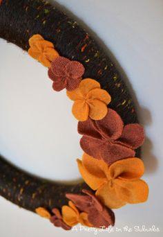 A Pretty Life in the Suburbs: Cozy Fall Yarn Wreath