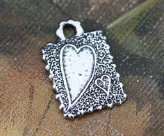 Artisan Handcrafted Solid Sterling Silver Heart Pendant by Calieri, $15.52