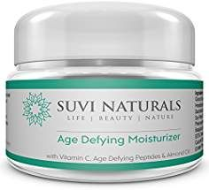 Suvi Naturals Age Defying Moisturizer AntiAging Pore Minimizer and Dark Spot Corrector Helps Reduce Appearance of Fine Lines Wrinkles Circles Boost Collagen Production 1 fl oz *** Read more at the image link. Best Anti Aging Creams, Anti Aging Skin Care, Organic Face Cream, Essential Oils For Skin, Skin Care Cream, Anti Aging Moisturizer, Tips, Image Link, Acne Treatment