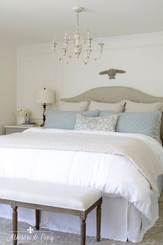 How to Make the Perfect Bed: My Favorite Bedding Formula Modern Boys Rooms, Beddys Bedding, Textured Bedding, Euro Pillows, California King Mattress, Simply Home, Guest Bedrooms, Master Bedroom, Make Your Bed