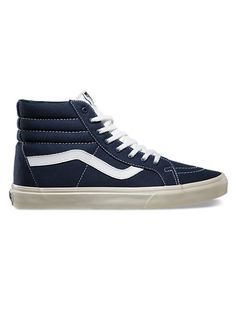 Navy blue canvas Vans just scream California, and that's where most of the country wants to be during these midwinter doldrums. 10 oz. canvas Sk8-hi reissue ($60) by Vans, vans.com   - Esquire.co.uk