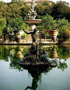 Boboli Gardens - perhaps my favorite spot in Florence and that's saying something! Spent many hours sketching and walking here!