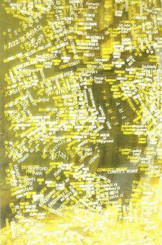Matthew Picton, London A-Z #2 Text Work (detail) Laminated duralar, 2006