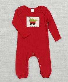 Another great find on #zulily! Tesa Babe Red 'Santa's Helper' Playsuit - Infant by Tesa Babe #zulilyfinds