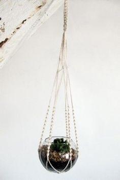 Mini Macrame with succulent