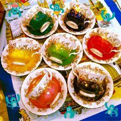 7 color Royal Albert tea cup bonechina#teacups#rainbow#madeinengland#goldleaf#tippycollection