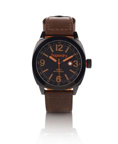 Mens - Thor Super Luxe Watch in Brown/black | Superdry