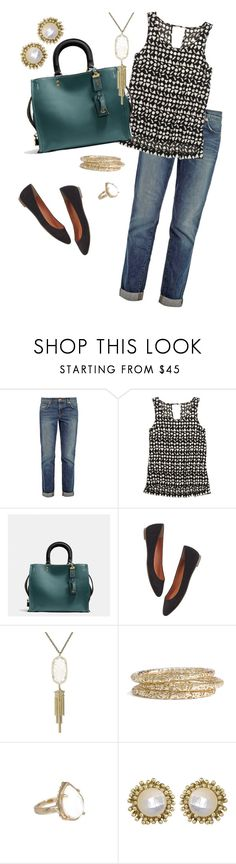 """""""Goin' Rogue"""" by themommylama ❤ liked on Polyvore featuring J Brand, Madewell, Coach and Kendra Scott"""