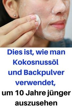 This is how to use coconut oil and baking soda to make 1 .- Dies ist, wie man Kokosnussöl und Backpulver verwendet, um 10 Jahre jünger aus… This is how to use coconut oil and baking soda to look 10 years younger # Coconut oil powder - Lemon Face Mask, Lemon On Face, Beauty Care, Diy Beauty, Beauty Hacks, Beauty Ideas, Beauty Skin, Diy Hair Bun Maker, Diy Makeup Kit