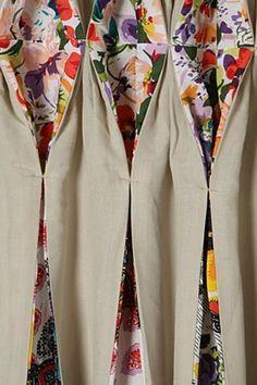 Origami Garden Curtain - a peekaboo of floral