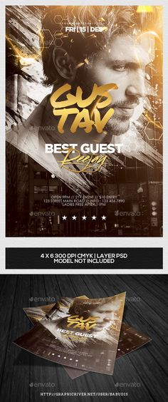 Guest DJ Flyer Template Vol. 2 — Photoshop PSD #heart #glamour • Available here → https://graphicriver.net/item/best-guest-dj-flyer-template-vol-2/9723085?ref=pxcr
