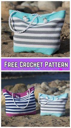 Crochet Classic Beach Bag Free Crochet Pattern #Crochet