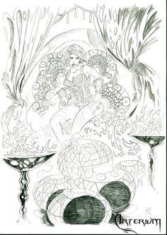 Bocetos y diseños de personajes para Arterium por Ber | Dibujando