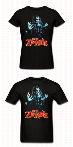 Rob Zombie Metal Printed T Shirt Funny Hip Hop Punk Cotton O Neck Casual Short Sleeve Tshirt Harajuku Men Women Punk Shirts Tees