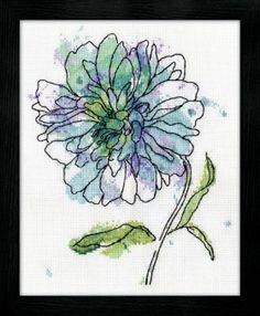 Cross Stitch Corner | Design Works Crafts - Blue Floral