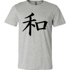 Athletic Gray work out Tank Top - T-shirt - Kanji Peace Symbol