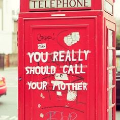 Did you do it? #YouReallyShouldCallYourMother Follow: @futbol451 by streetartglobe