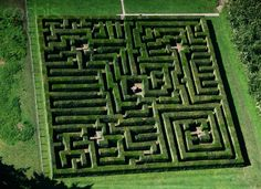 Aerial View Traquair House Maze