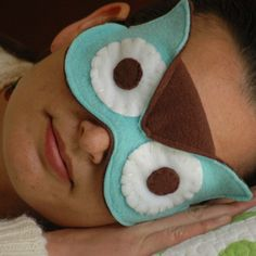 owl sleep mask, cute but I think my sleep would be interrupted by my husbands screams of terror in the morning!
