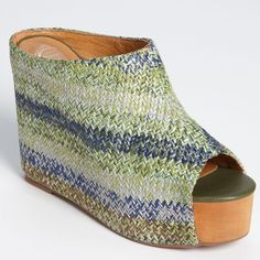 Jeffery Campbell Virgo woven wedged mules Jeffery Campbell Virgo woven wedged mules. These are just too cool and comfortable! Great condition! Jeffrey Campbell Shoes Mules & Clogs