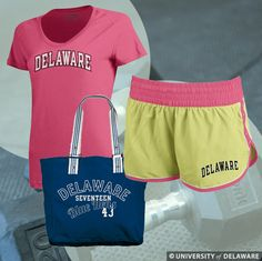 Get into shape in style with Delaware attire from the bookstore.