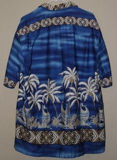 12fcc564 This is a marvelous tribal print WINNIE FASHION made in Hawaii shirt.  Vintage Hawaiian,