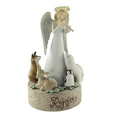 Grassland Roads Angel With Critters Musical Figurine