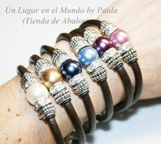 Leather with pearls & charms