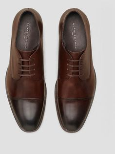 Sound T-Rack Burnished Leather Oxford, BROWN