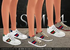 Gucci Ace Leather Sneaker for The Sims 4