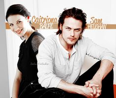 "italianoutlanders: "" Caitriona and Claire,I've been able to keep separate.But Sam kind of flickers in and out for me. ~Diana Gabaldon """