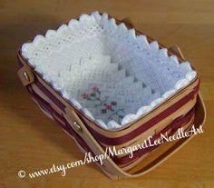 Mini Rectangular Basket Liner Pattern INSTANT DOWNLOAD /
