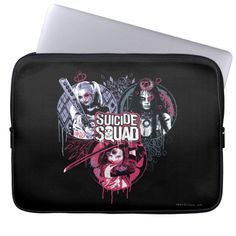 #custom #gifts #Suicide Squad Themed Check out the Suicide Squad girls Harley Quinn, Enchantress, and Katana in this sketched and inked graffiti style graphic.