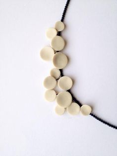 geometrical contemporary handsculpted polymer clay necklace