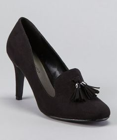 Take a look at this Black Lolly Tassel Pump by ann marino on #zulily today!