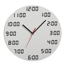 Analogous Digital Wall Clock
