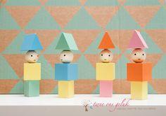 Blokjes in zachte kleurtjes voor op de babykamer of de kinderkamer. Ook om mee te spelen.