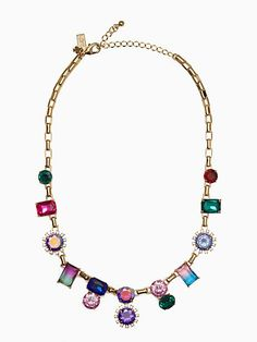 Kate SpAde color crush collar necklace, multi