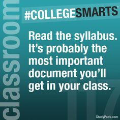 Keep track of the schedule.- College Smarts