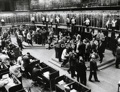 Historical photo of the trading floor.