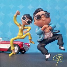 Gangnam Style Sculpture by I Do Cake Toppers, via Flickr Couldn't get the song or this picture out of my head so I just went ahead and sculpted it. Hope it makes everyone smile.