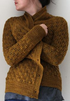 Cozy and lacy, all at the same time! Pomme de pin Cardigan by Amy Christoffers.